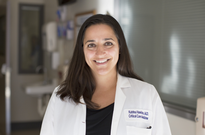 Katrina Hawkins, MD '05, RESD '08, FEL '11, assistant professor of anesthesiology and critical care at GW SMHS