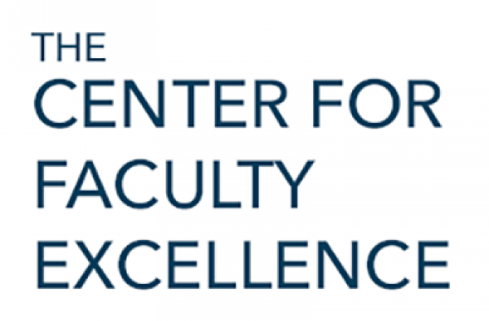 The Center for Faculty Excellence text
