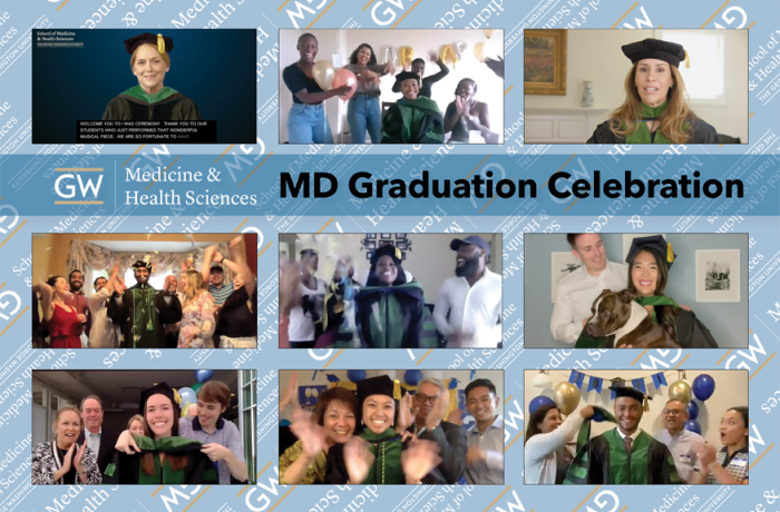Collage of 2021 MD graduation images