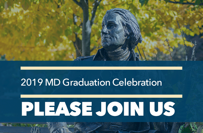 MD graduation event banner