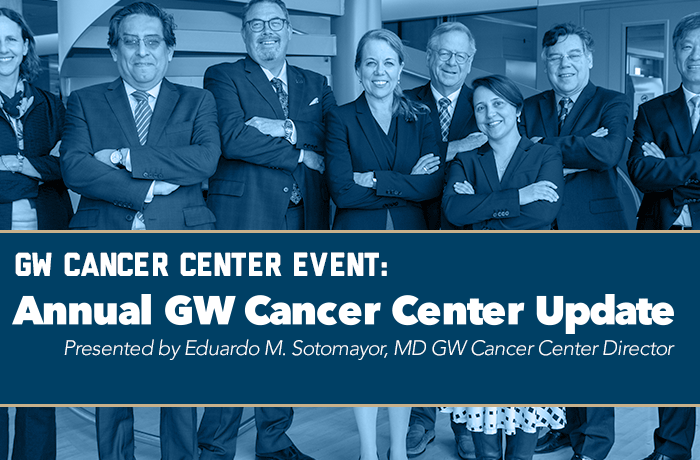 Annual GW Cancer Center Update Event Banner