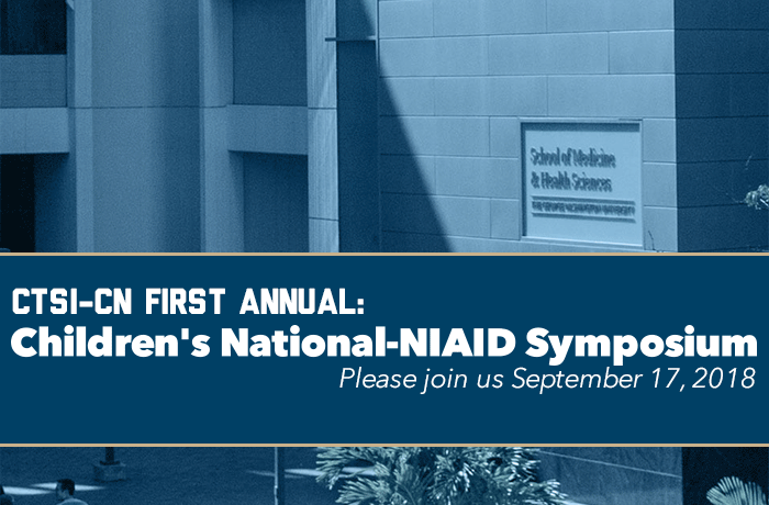First annual Children's National–NIAID Symposium Event Banner
