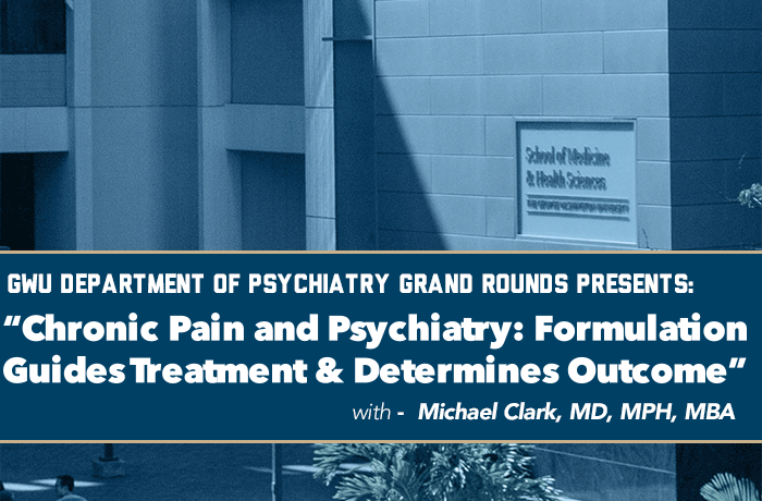 GW Psychiatry Grand Rounds Event Banner