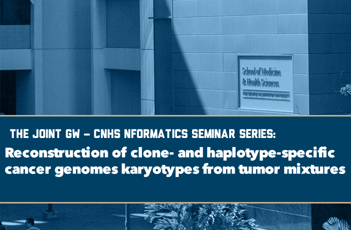 Reconstruction of clone- and haplotype-specific cancer genomes karyotypes from tumor mixtures Event Banner