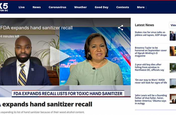 FOX5 - FDA Expands Hand Sanitizer Recall