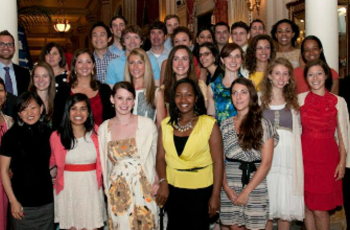 Student honorees pose for photo