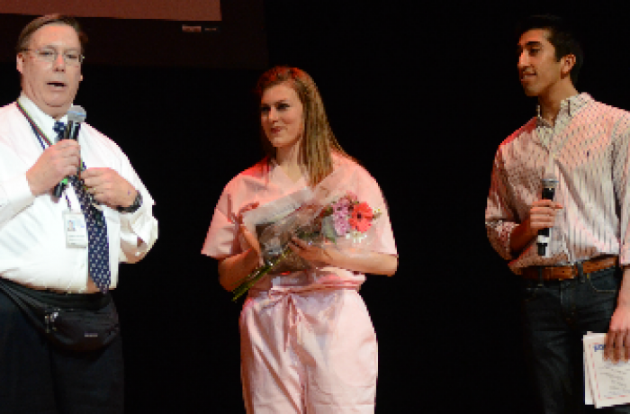 Students on stage at Follies
