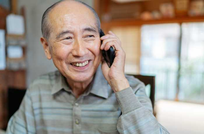 Man talking on his cellphone