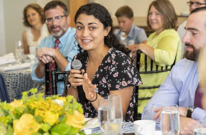 Image of students and alumni at Legacy Brunch