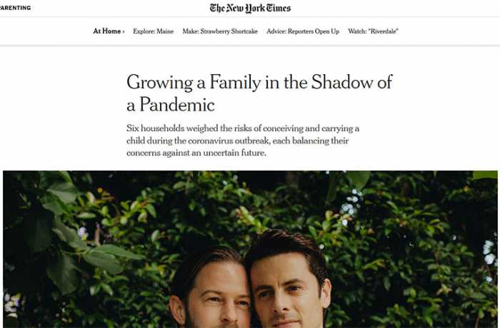 The New York Times - Growing a Family in the Shadow of a Pandemic