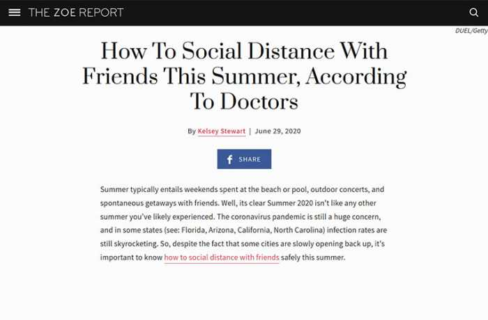 The Zoe Report - How To Social Distance With Friends This Summer, According To Doctors