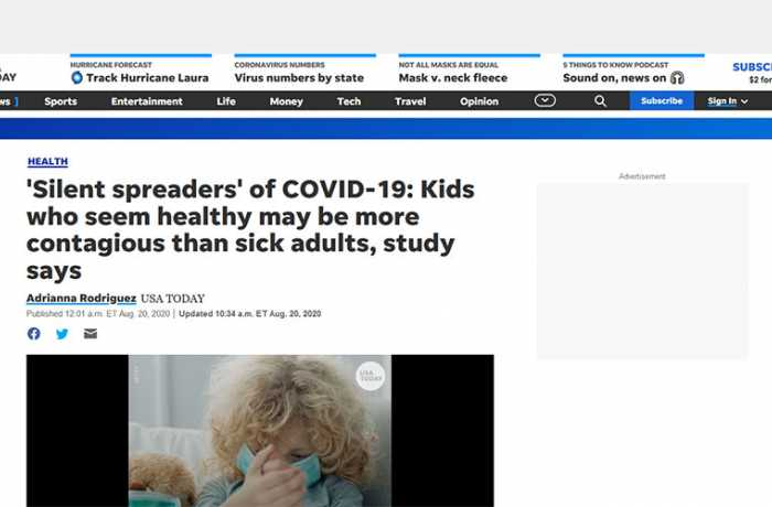 USA Today - 'Silent Spreaders' of COVID-19