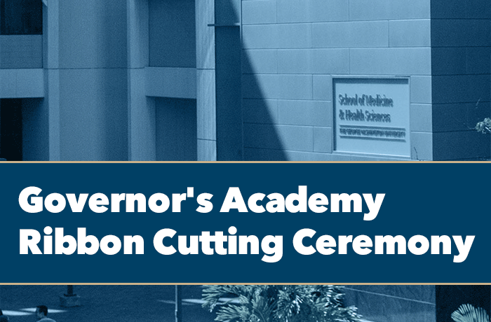 Governor's Academy Ribbon Cutting Ceremony Event Banner
