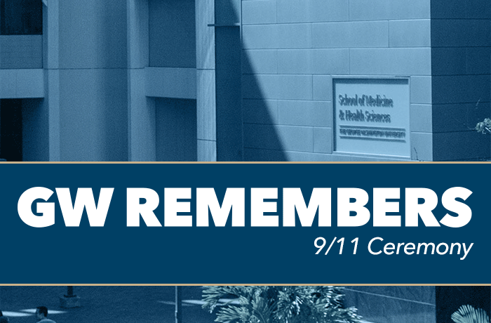 GW Remembers 9/11 Ceremony Event Banner
