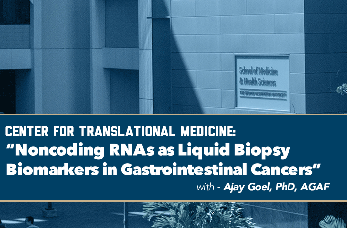 Noncoding RNAs as Liquid Biopsy Biomarkers in Gastrointestinal Cancers Event Banner
