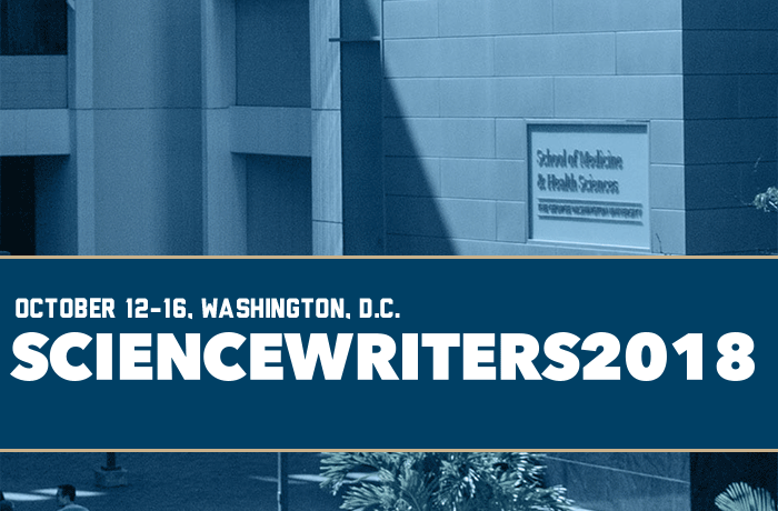 ScienceWriters 2018 Event Banner