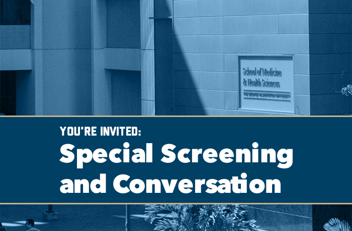You're Invited: Special Screening and Conversation Event Banner