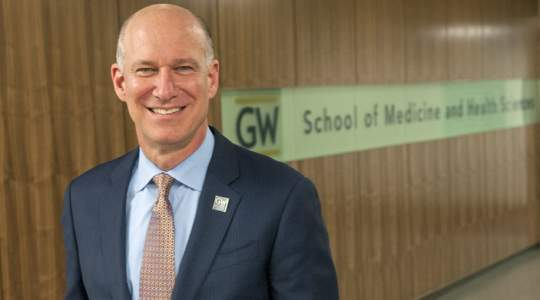 Jeffrey S. Akman, MD '81, RESD '85, vice president for Health Affairs and Dean, GW School of Medicine and Health Sciences