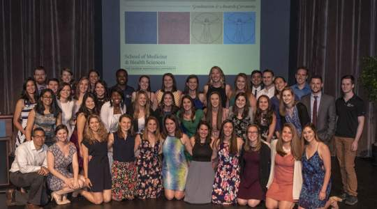 Class of 2019 Doctor of Physical Therapy at annual awards ceremony