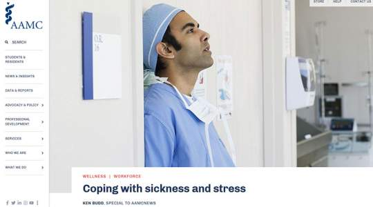 AAMC - Coping with sickness and stress