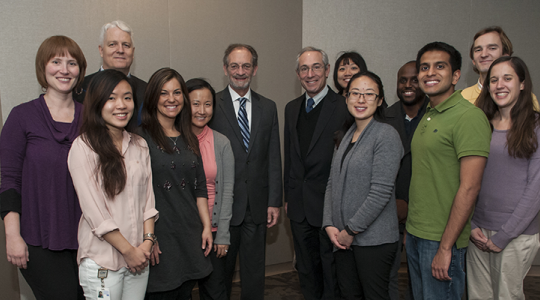 Participants pose for a photo at the 12th Annual Jerry M. Wiener, M.D., Endowed Lecture in Psychiatry and Behavioral Sciences.