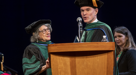 SMHS faculty members were presented with Emeritus status