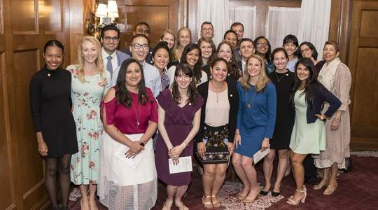 2018 Gold Humanism Honor Society Inductees and GW Faculty