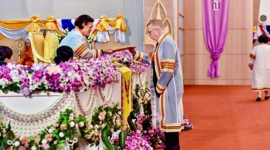 Paul Brindley, PhD receives honorary doctorate from Khon Kaen University in Thailand