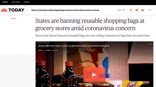 Today.com - States Are Banning Reusable Shopping Bags