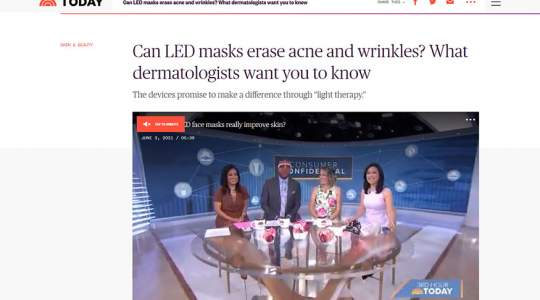 Today - Can LED Masks Erase Acne and Wrinkles? What Dermatologists Want You to Know.