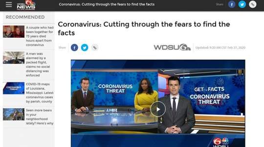 Hearst TV - Coronavirus: Cutting Through the Fears to Find the Facts