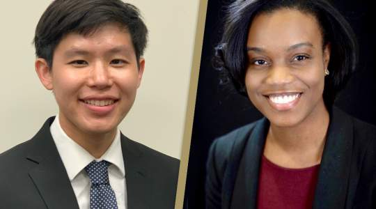 Chapman Wei and Kamaria Nelson head shots