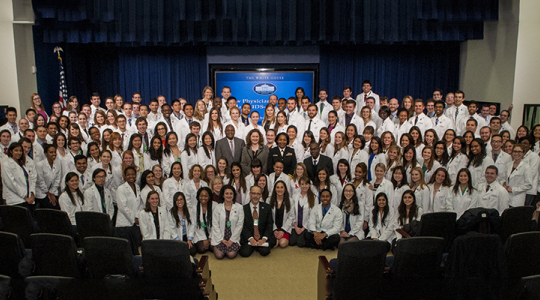 Medical students at White House