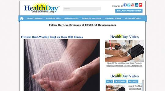 HealthDay - Frequent Hand-Washing Tough on Those With Eczema