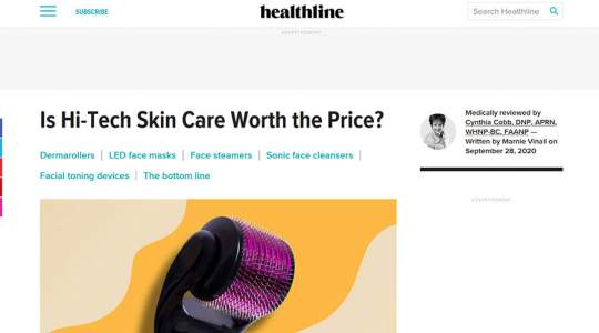 Healthline - Is Hi-Tech Skin Care Worth the Price?