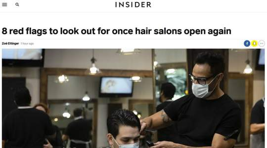 Insider - 8 Red Flags to Look Out for Once Hair Salons Open Again