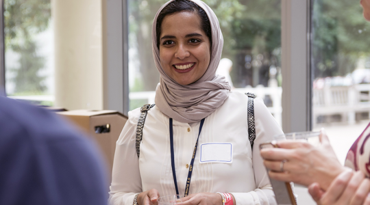 A participant in the Summer Research and Medical Enrichment Program
