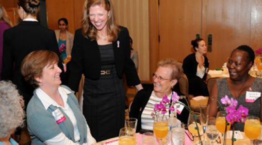 Women chatting at luncheon