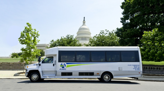 Shuttle in front of Capitol
