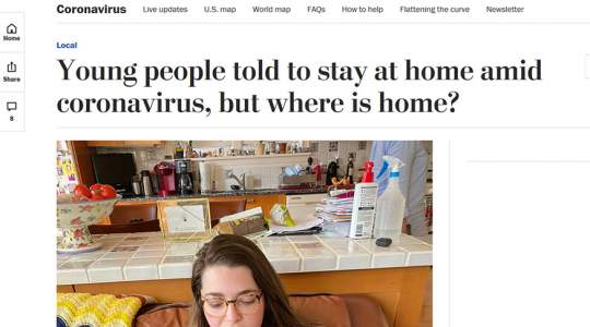 The Washington Post - Young People Told to Stay at Home Amid Coronavirus, But Where is Home?