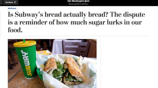 The Washington Post - Is Subway's Bread Actually Bread?