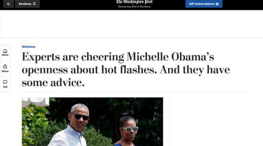 The Washington Post - Experts Are Cheering Michelle Obama's Openness About Hot Flashes