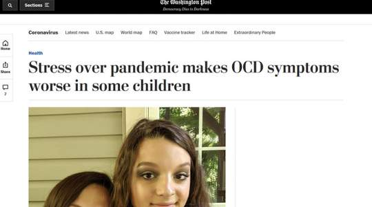 The Washington Post - Stress Over Pandemic Makes OCD Symptoms Worse in Some Children