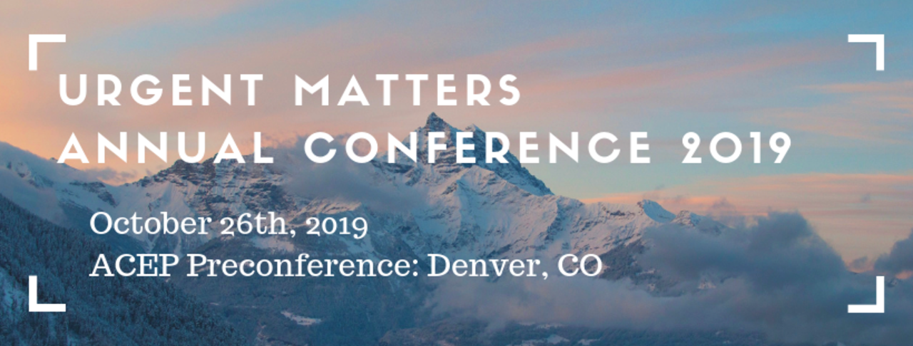 Urgent Matters Annual Conference 2019